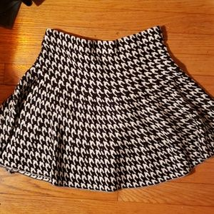 Candies houndstooth sweater flare skirt